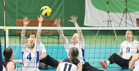Home team have made a positive impression in sitting volleyball.