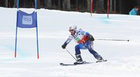 Finland vs Norway in the Pajulahti Games Special Olympics alpine skiing.