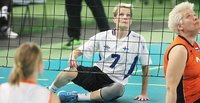 Former standing volleyball star now shines in sitting volleyball.