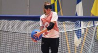 Paralympic gold medalists and Paralympic host nation playing in the Pajulahti Games goalball tournament.