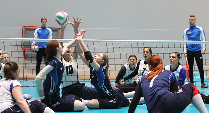 A match between Russia and Ukraine in the 2019 Pajulahti Games